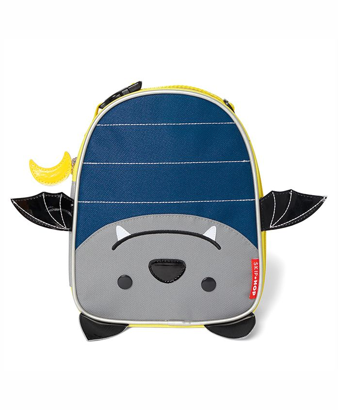 Skip Hop Zoo Lunchie Bag Bat Design Blue Grey - Height 9 inches