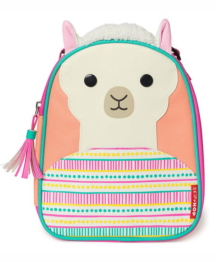 Skip Hop Zoo Lunchie Bag Llama Design Multicolour - Height 9 inches
