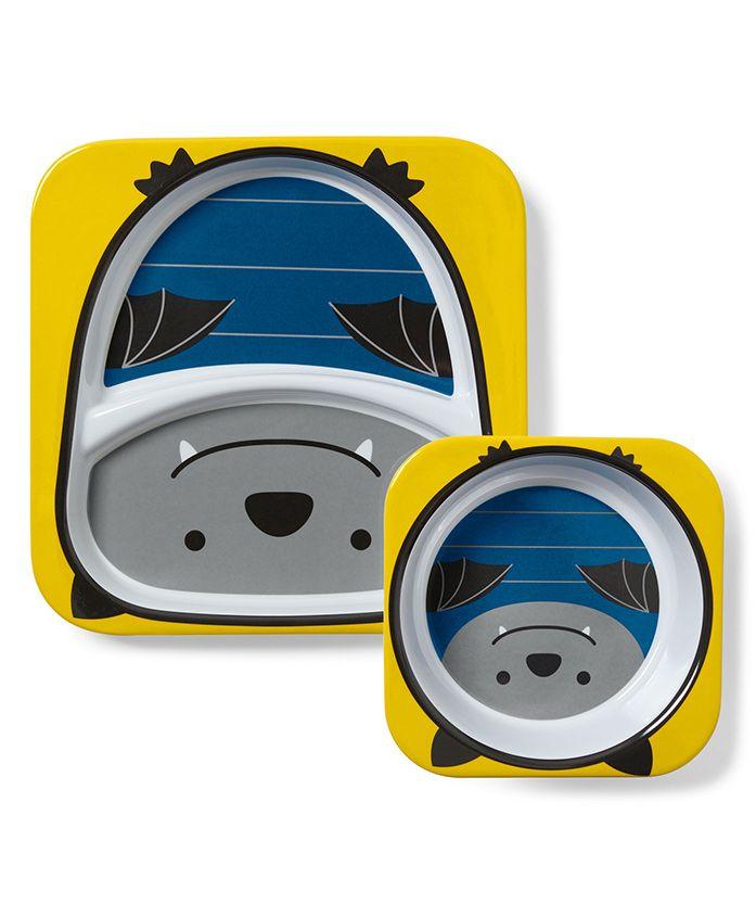 Skip Hop Bowl & Plate Set Bat Design - Yellow Blue