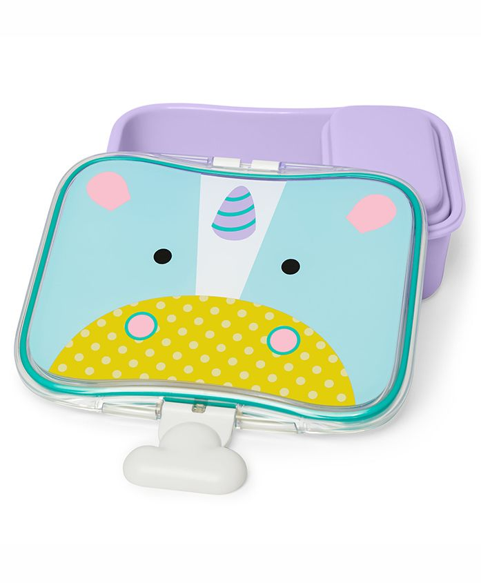 Skip Hop Mealtime Lunch Box Unicorn Print - Blue Purple