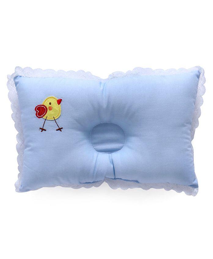 Baby Pillow Sparrow Print - Blue