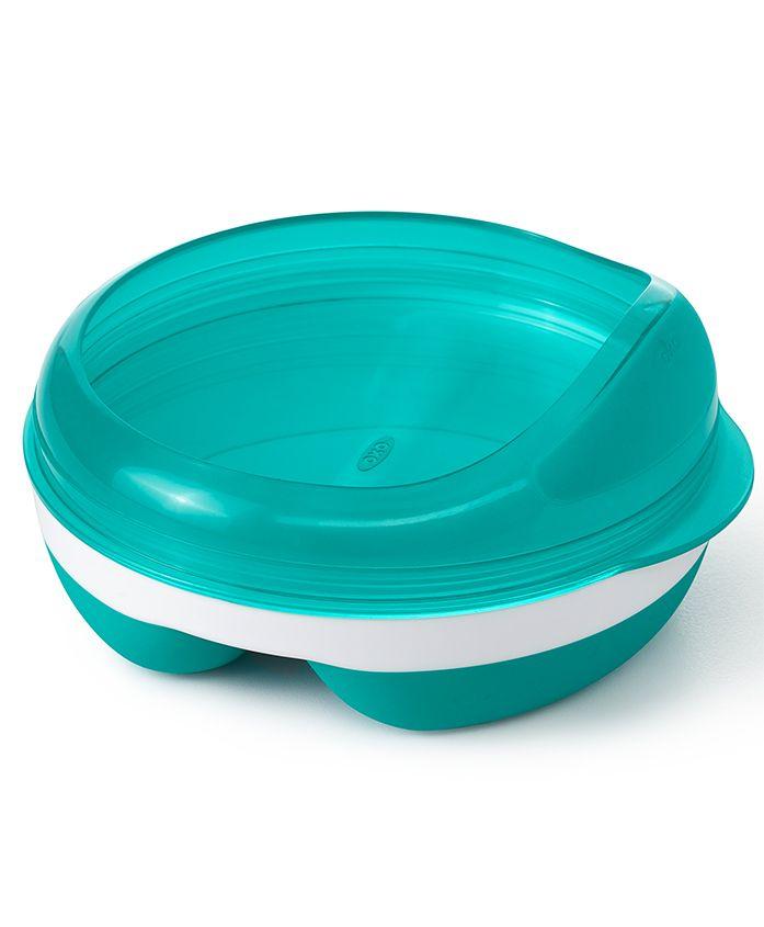 Oxo Tot Divided Feeding Dish - Light Blue
