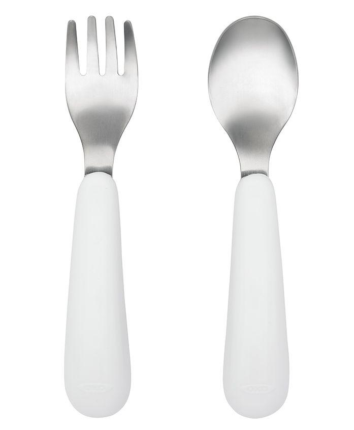 Oxo Tot Fork & Spoon Set - White & Navy