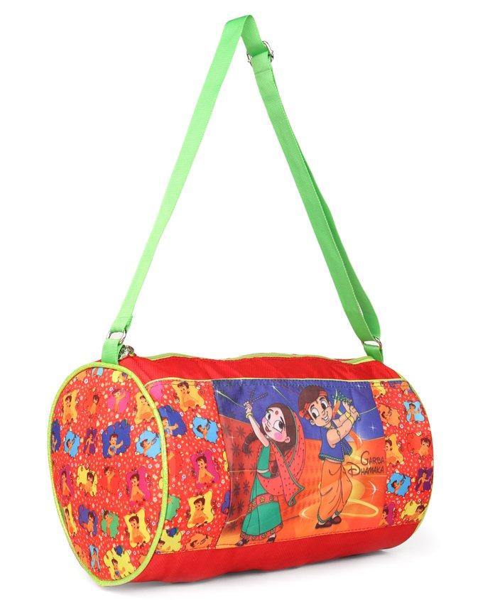 Chhota Bheem Garba Dhamaka Duffel Bag Red - Height 9 inches