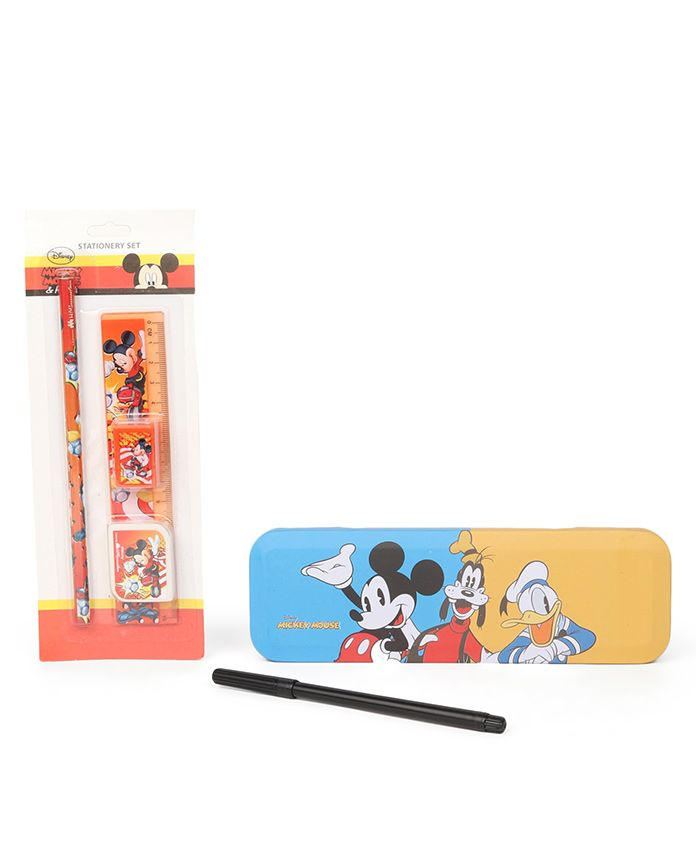 Disney Mickey Mouse And Friends School Kit Pack Of 6 - Multicolor