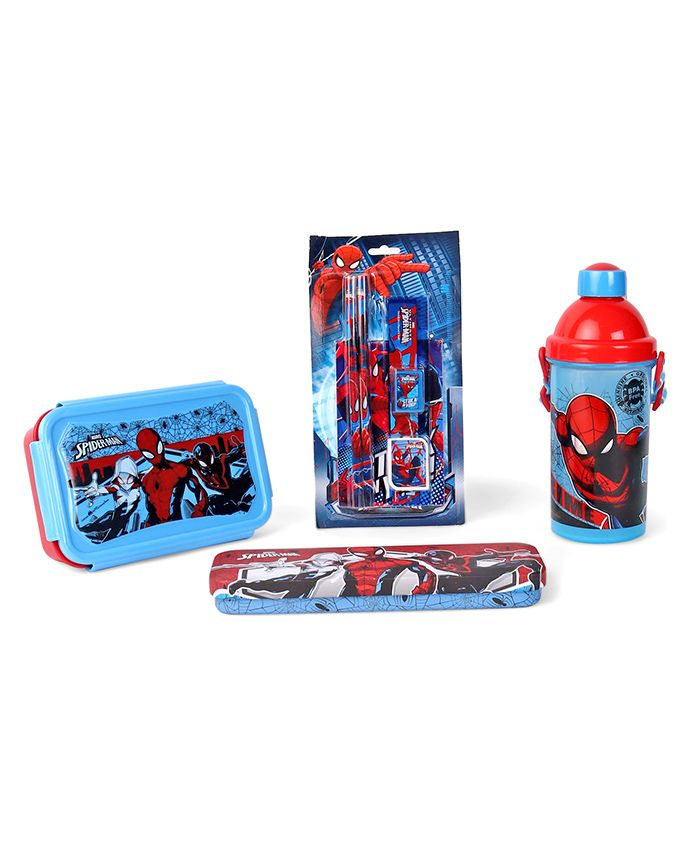 Marvel Spider-Man School Kit Blue & Red - Pack of 4