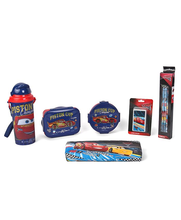 Disney Pixar Cars School Kit Blue - Pack Of 6