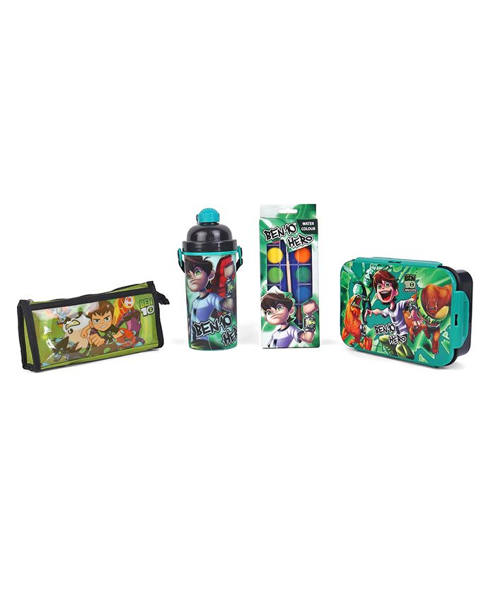Ben 10 School Kit Green - Pack of 4