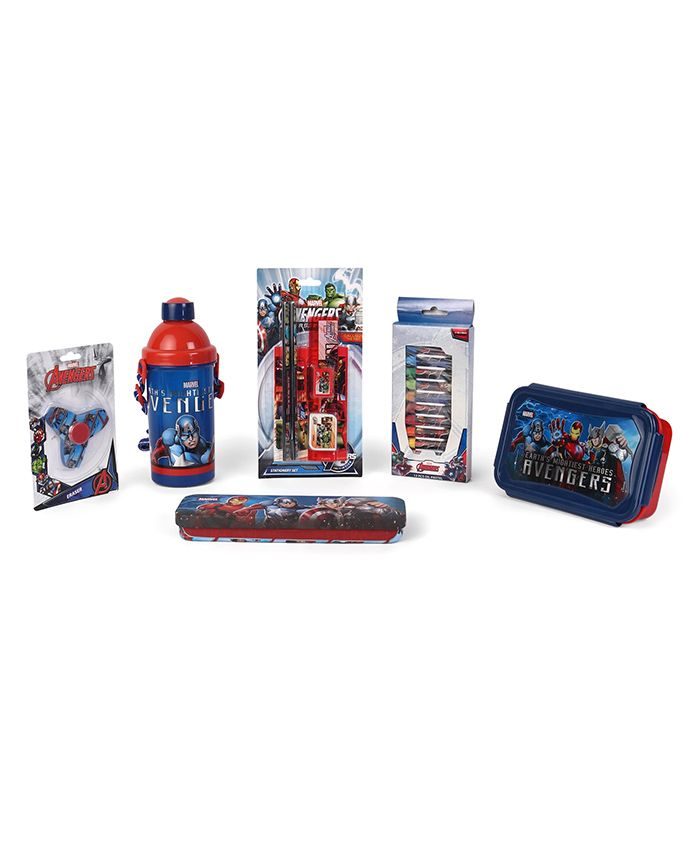 Avengers School Kit Red & Blue - Pack Of 10