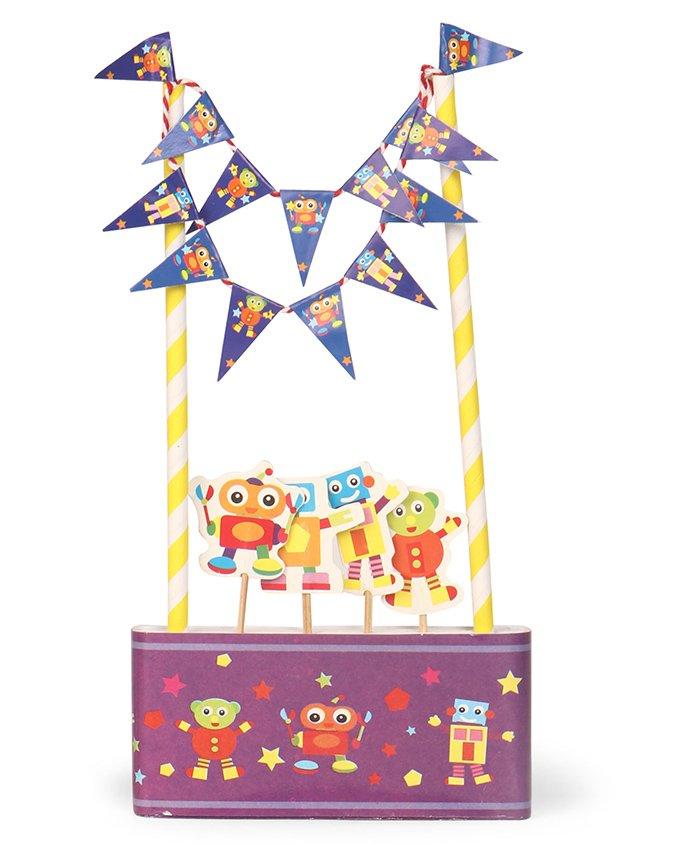 B Vishal Robot Themed Cake Decorator Set - Purple