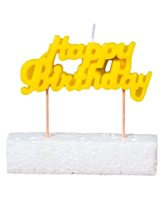 Party Anthem Happy Birthday Toothpick Candle - Yellow