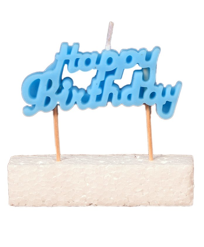 Party Anthem Happy Birthday Toothpick Candle - Blue