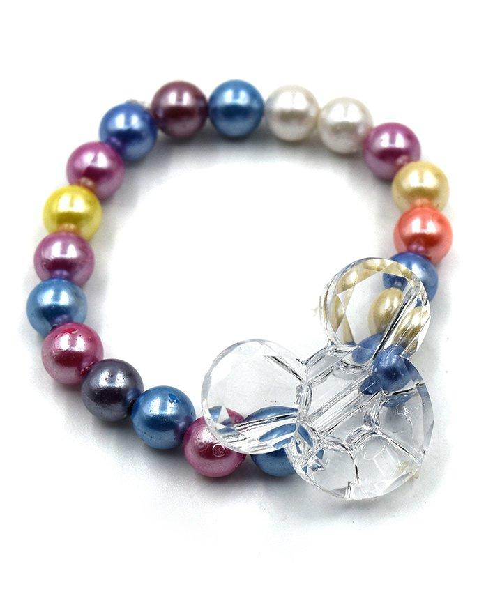 Magic Needles Beads Bracelet Minnie Mouse Applique - White Multicolour