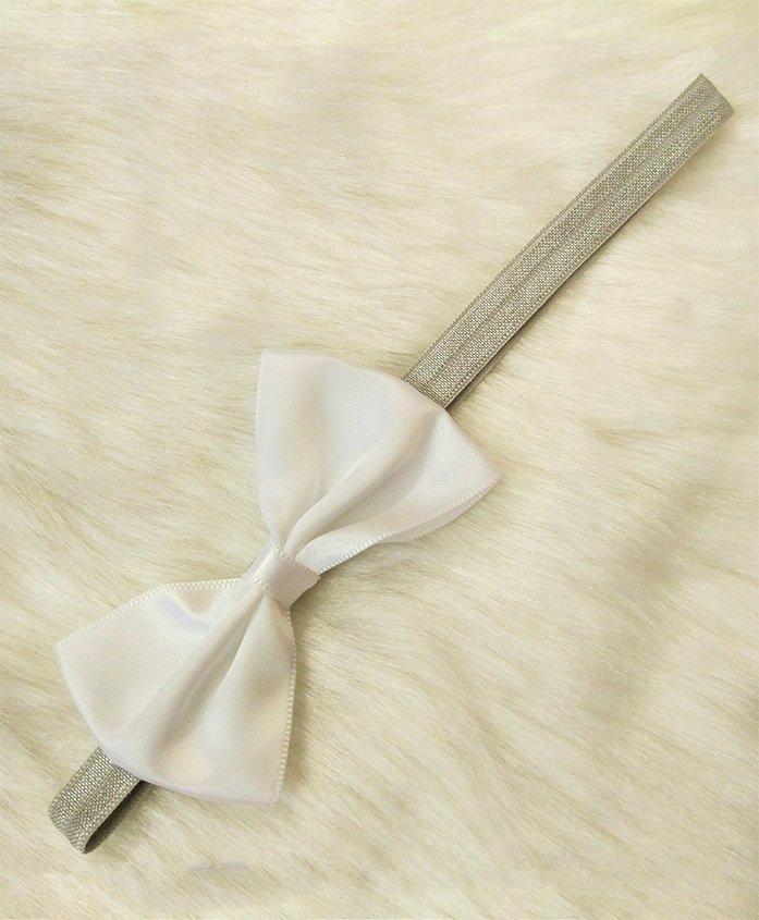 Magic Needles Bow Headband - White