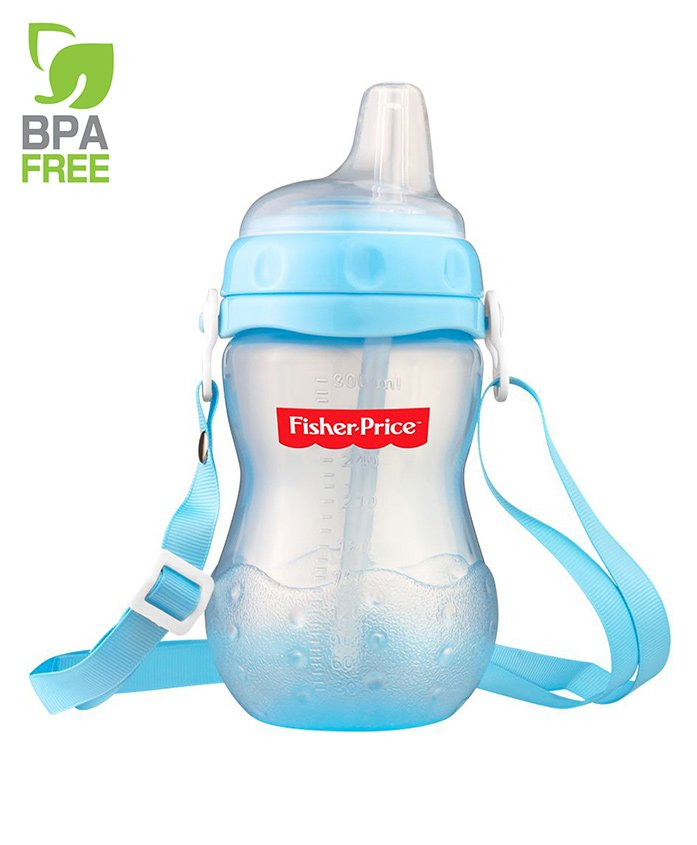 Fisher Price Sippy Straw Trainer Cup Blue - 300 ml