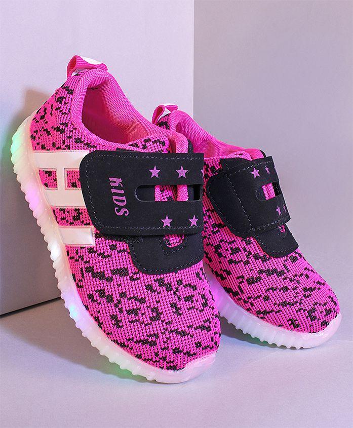 Kidlingss Led Sports Shoes - Pink