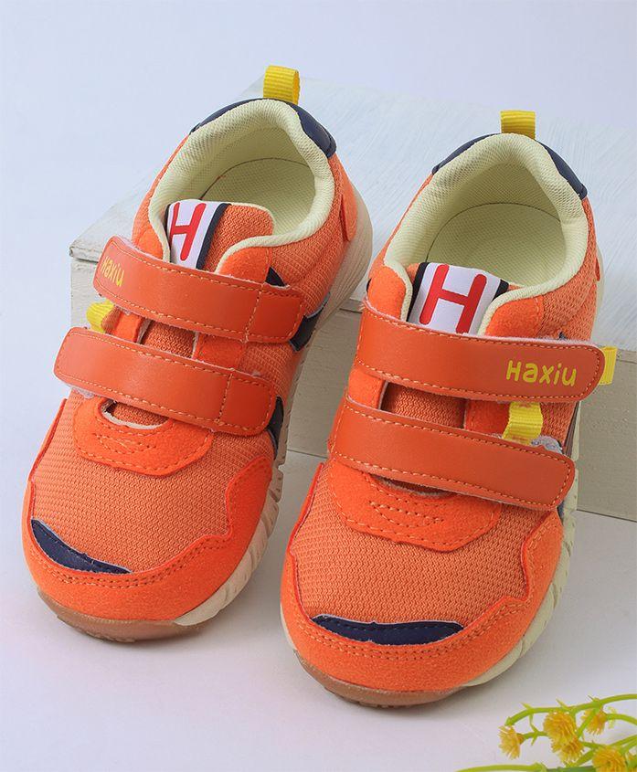 Kidlingss Double Velcro Sports Shoes - Orange