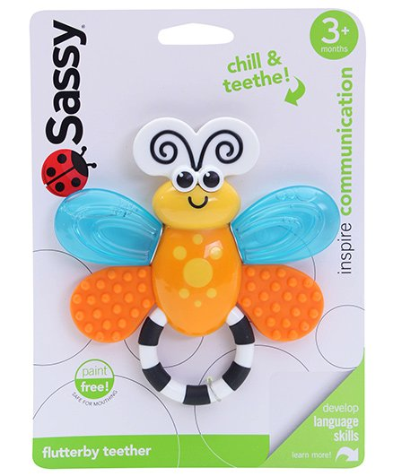 Sassy Flutterby Teether (Color May Vary)
