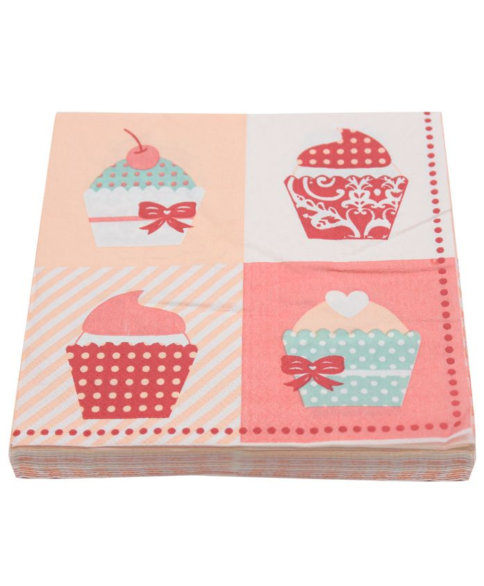 Quirky Monkey Cupcake Tissue Paper Multicolor - Set of 20