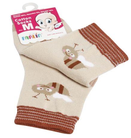 Farlin - Cotton Socks (Brown Color)