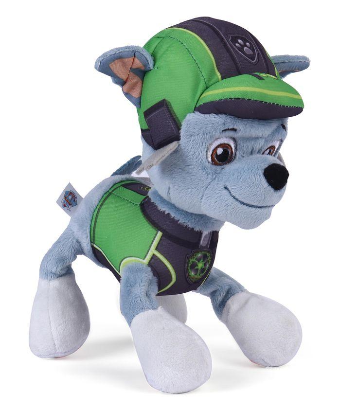 Paw Patrol Rocky Plush Toy Green & Sky Blue - Length 17 cm