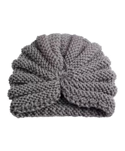 Ziory Woollen Knitted Baby Cap - Grey