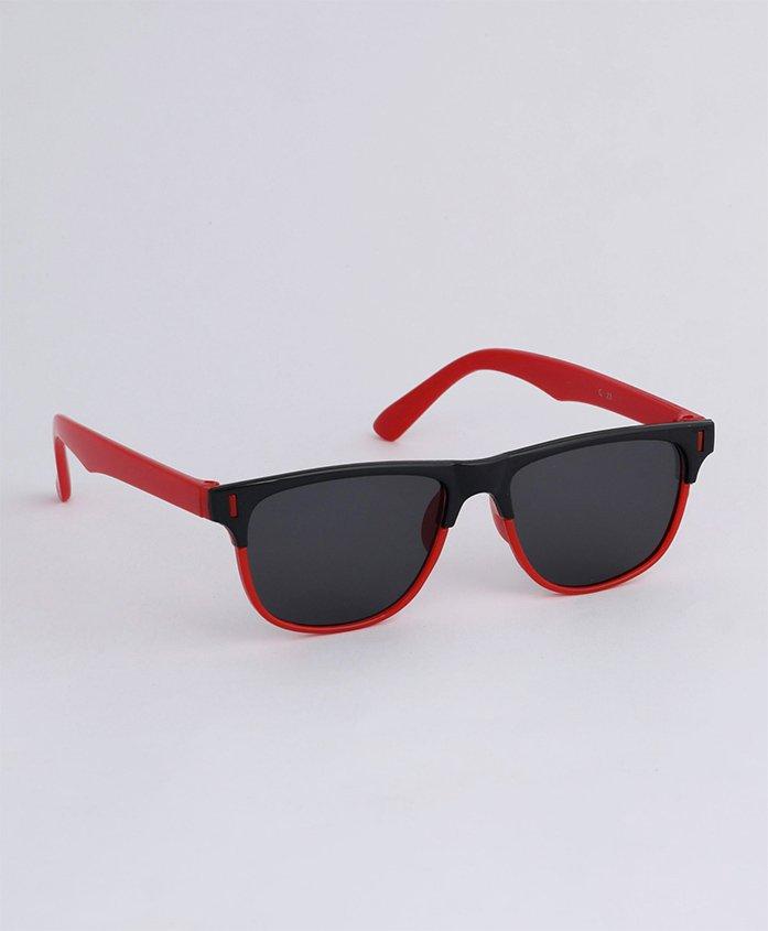 Babyhug Wayfarer Kids Sunglasses - Black Red