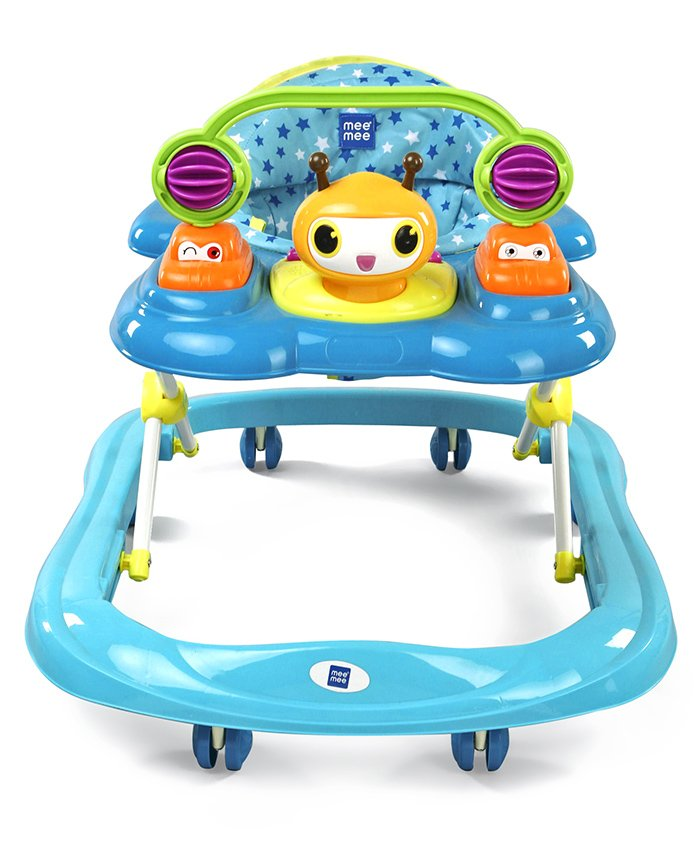 Mee Mee Musical Baby Walker With Rattle - Blue