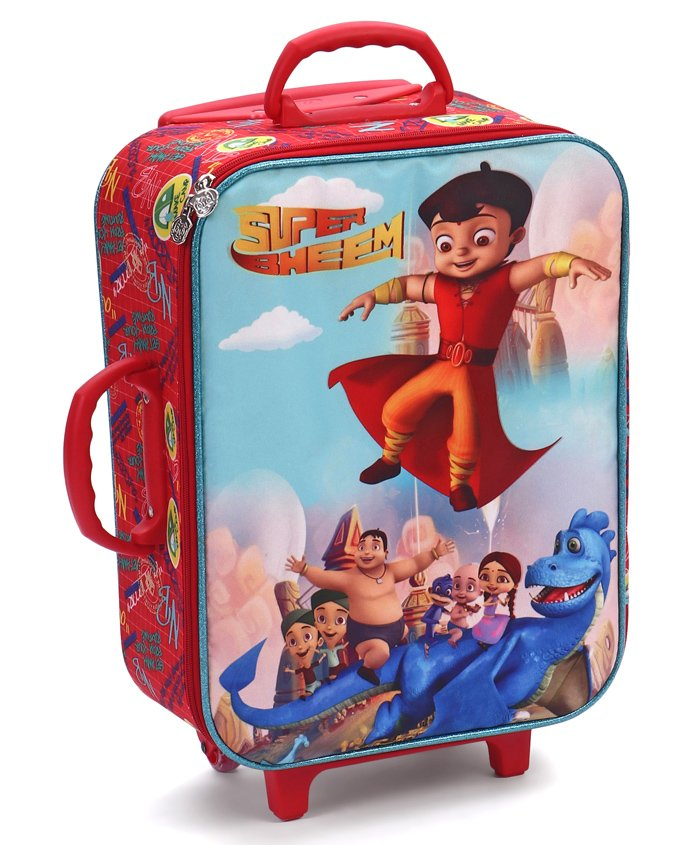 Chhota Bheem Luggage Trolley Bag Red - Height 18 Inches