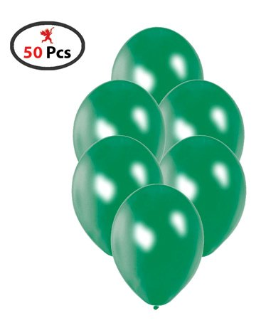 Party Propz Balloon For Christmas Decorations Green - Pack of 50