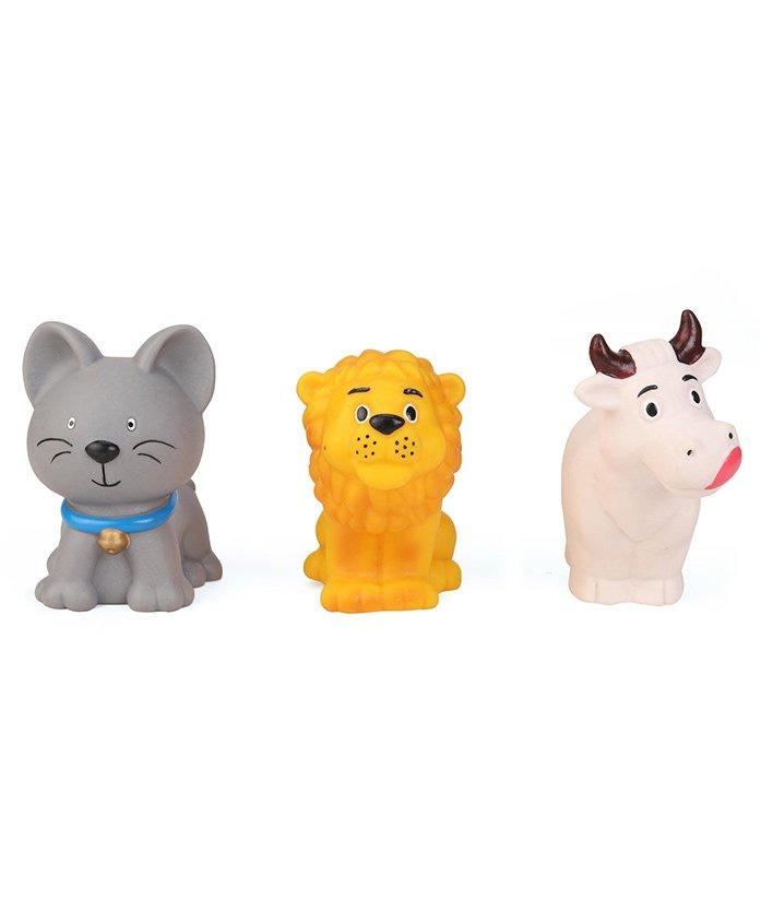 Speedage Animal Set Squeezy Toys Set of 3 - Grey Orange White