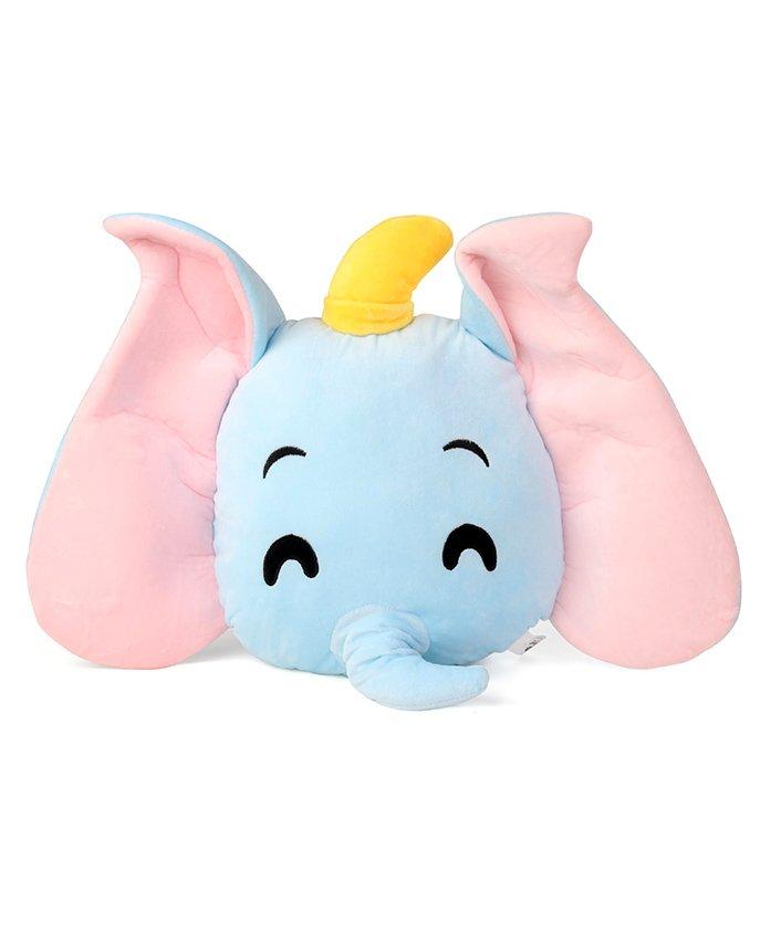 Disney Laughing Dumbo Emoji Face Plush Soft Toy Blue - Height 35 cm