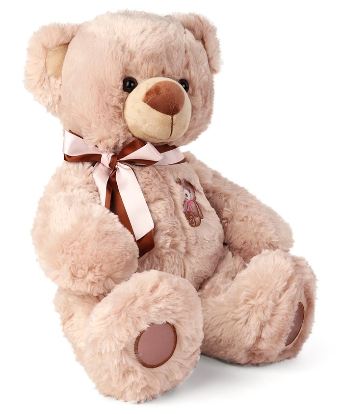 My Baby Excels Teddy Bear With Bowtie Plush Soft Toy Brown - Height 40 cm
