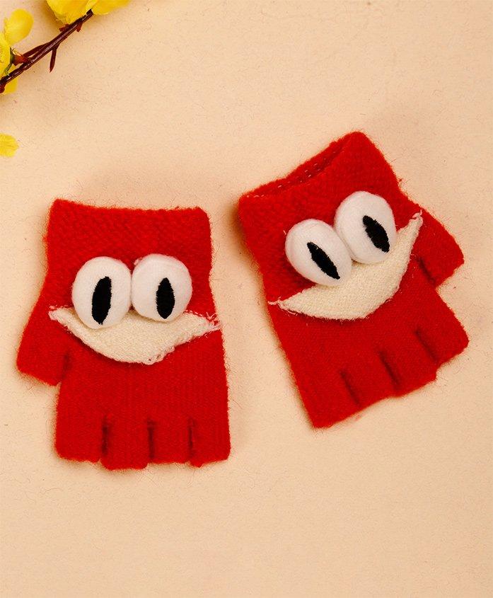 Unicorns Eye Design Gloves - Red