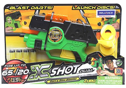 Xshot - Dual Excel Dart And Disc Blaster