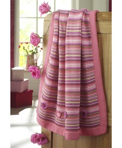 Lollipop Lane Upsy Daisy Knitted Blanket