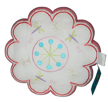 Abracadabra - Flower Shaped Cushion With Embroidery