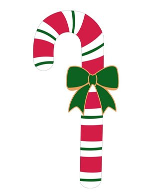 Party Propz Christmas Candy Cutout - Red