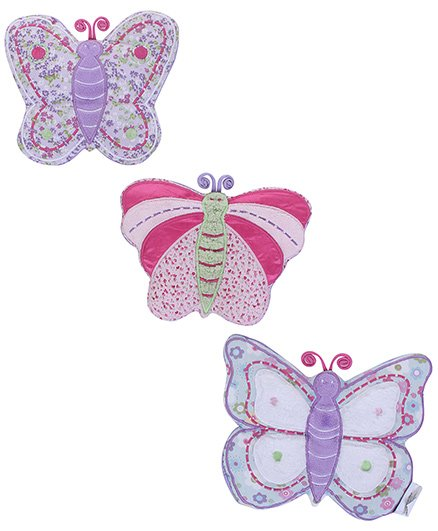 Abracadabra Butterfly Wall Hangings - Pack Of 3 - 23 X 19 Cm