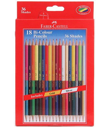 Faber Castell 18 Bi Colour Pencils