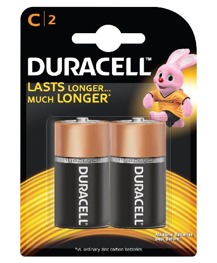 Duracell C Size Batteries - Pack Of 2