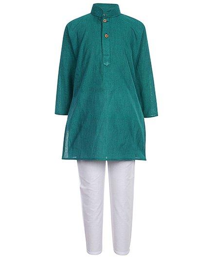 Baby Hug - Green Kurta Pyjama Set