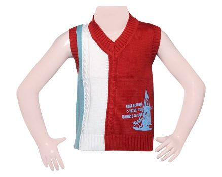 Sleeveless Sweater - Red