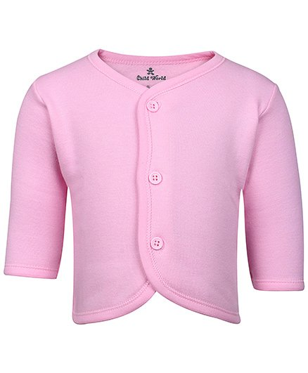 Child World - Plain Full Sleeves Fleece Vest