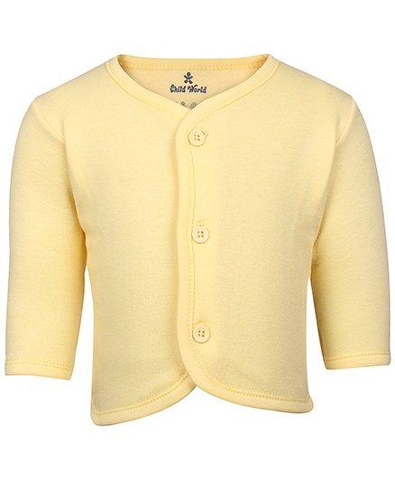 Child World - Plain Full Sleeves Fleece Vest