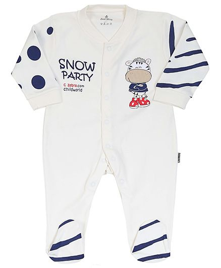 Child World - Full Sleeves Romper With Embroidery And Print