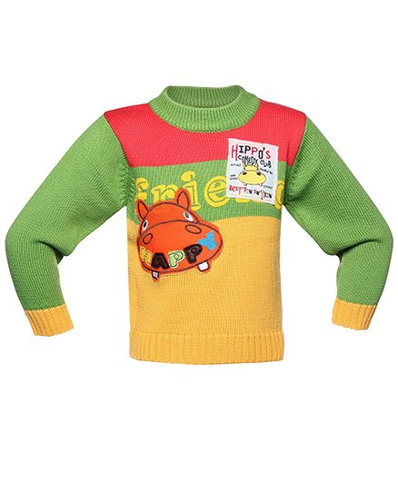 Pull Over Sweater With Hippo Design