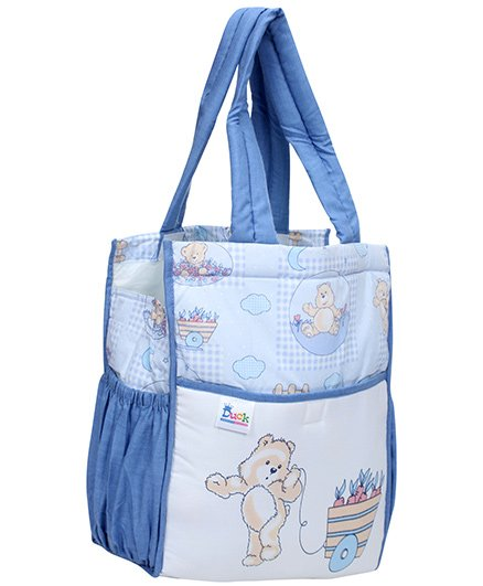 Duck Mother Bag Blue - Teddy Print