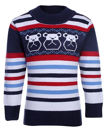 Babyhug Full Sleeves Round Neck Sweater
