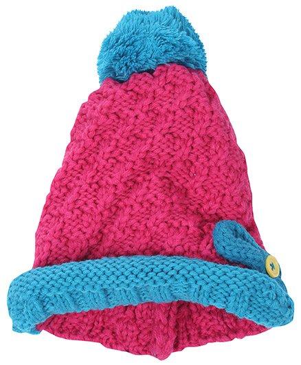 Babyhug Woolen Baby Cap - Bow